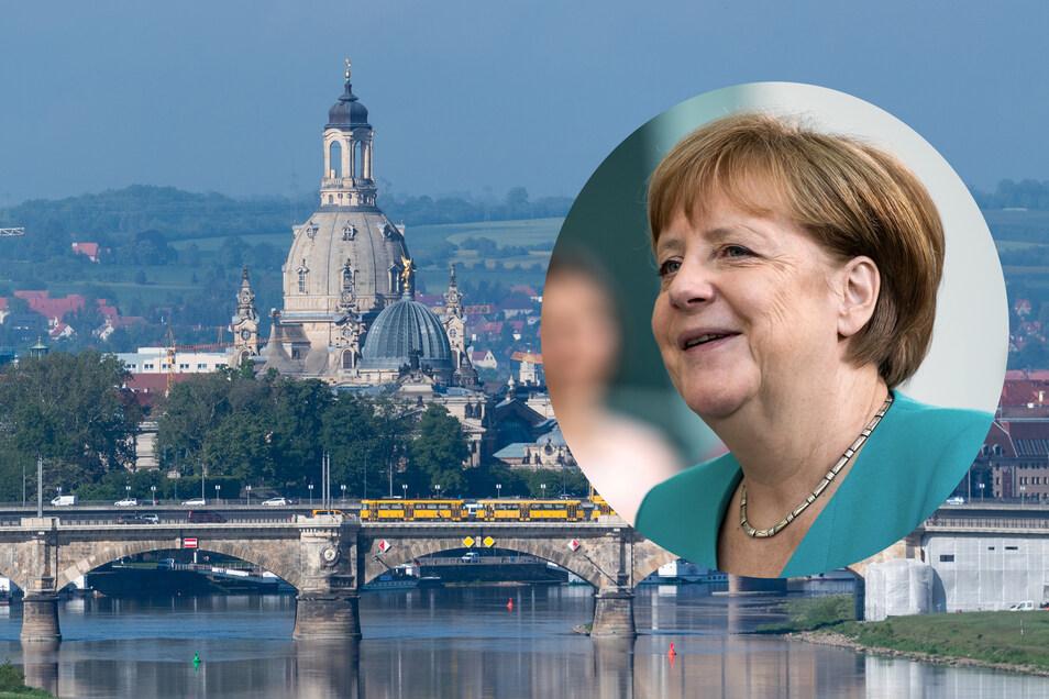 Bundeskanzlerin Angela Merkel ist am Mittwoch zu Besuch in Dresden.