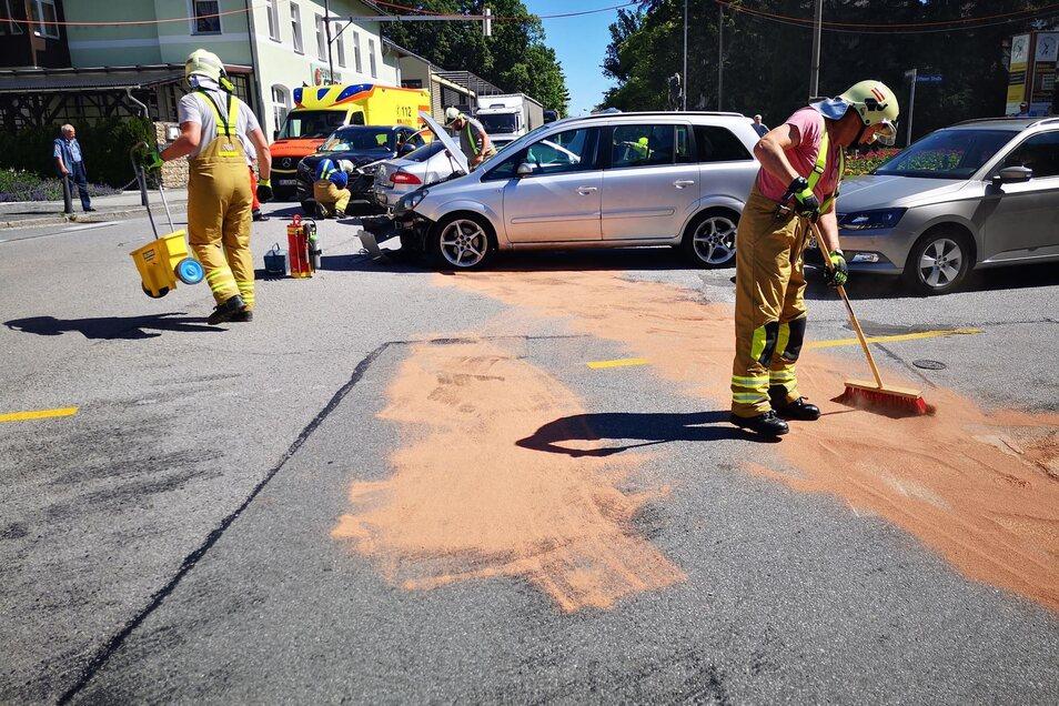 Drei Autos sind in den Unfall verwickelt gewesen.