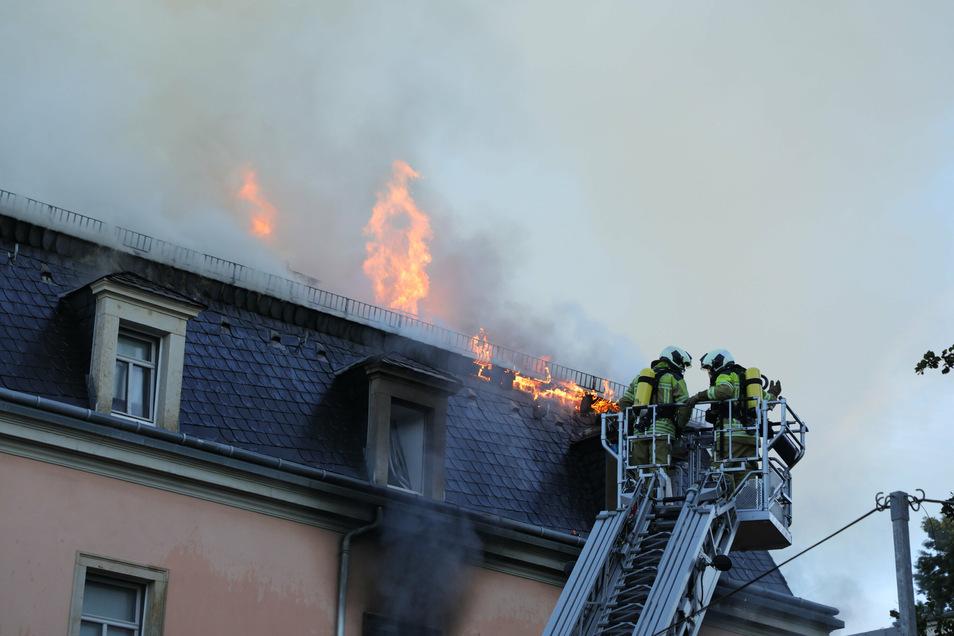 Am 19. September gegen 5.30 Uhr schlugen Flammen aus einer Wohnung an der Buchenstraße in Dresden, eine Person rettete sich mit einem Sprung aus einem Fenster im zweiten Stock und verletzte sich dabei. Laut Polizei wird gegen den 33-Jährigen Deutschen weg