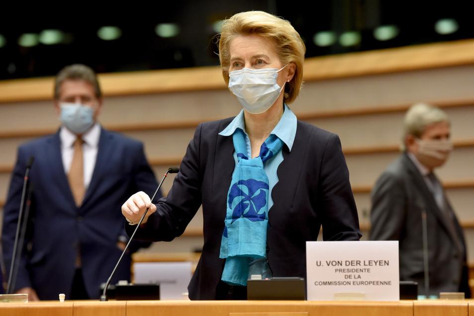 EU-Kommissionschefin Ursula von der Leyen hat ein Wiederaufbauprogramm entworfen.