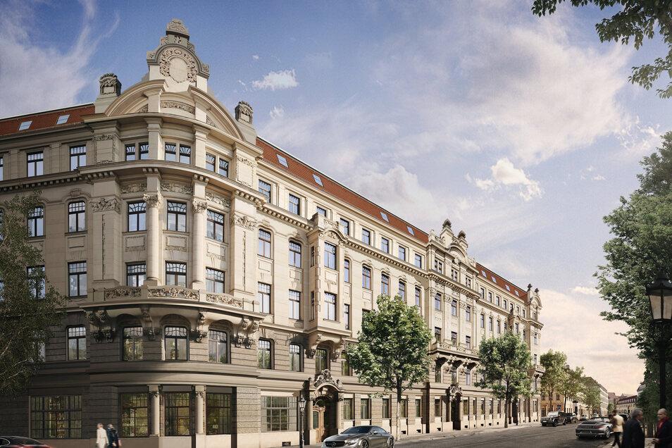 In dem fünfstöckigen Baudenkmal mit seinen vier Hausaufgängen werden 52 Eigentumswohnungen mit einem bis vier Räumen ausgebaut.