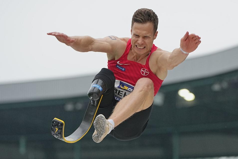 Wenn Weitsprung-Weltrekordler Markus Rehm erst mal abhebt, dauert es lange bis zur Landung.