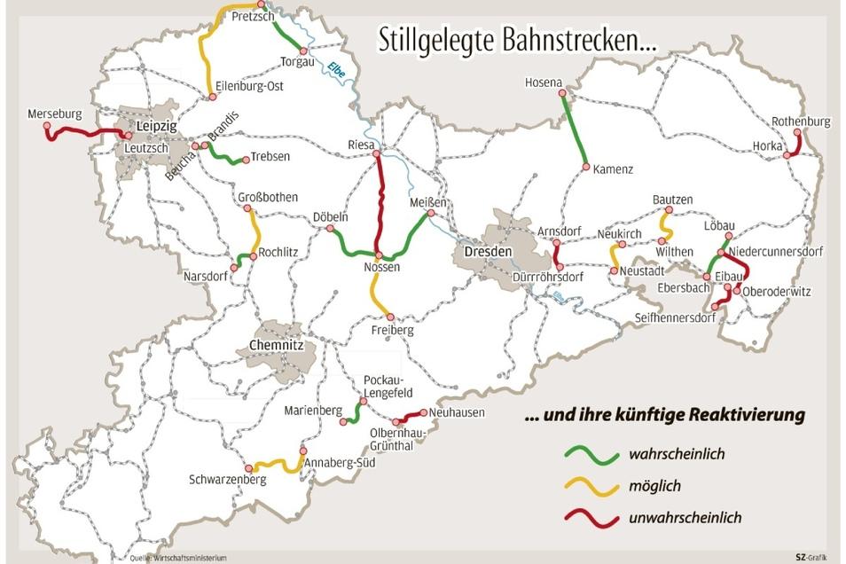 Die Bahnstrecke Löbau-Ebersbach hat Chancen, dass hier wieder Personenzüge rollen.