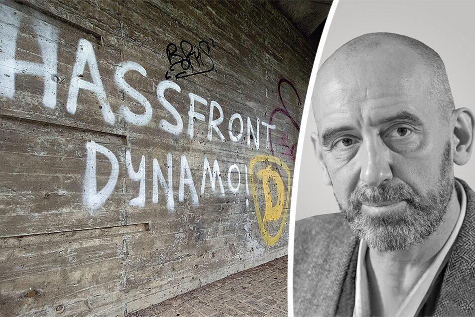 Egal ob an der Westtangente in Bautzen oder an den Bushaltestellen – überall gibt es jetzt Schmierereien, die in Zusammenhang mit Dynamo Dresden stehen. Dem Oberbürgermeister reicht es jetzt.