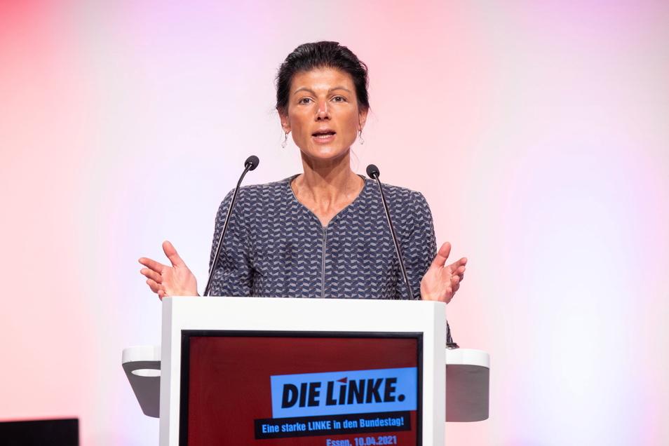 Sahra Wagenknecht ist Spitzenkandidatin der Linken in NRW für die Bundestagswahl.