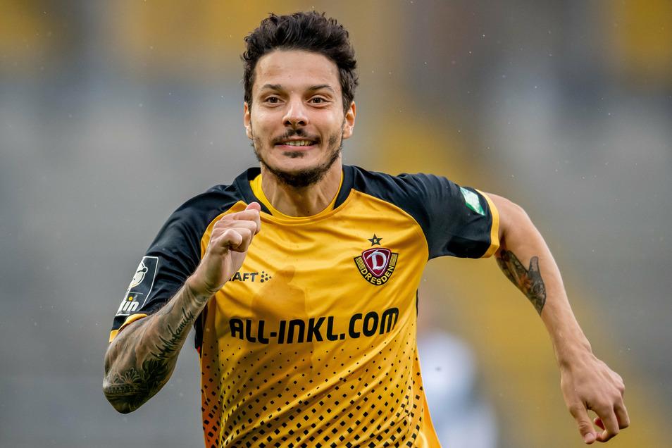 Philipp Hosiner hat zwar im Ost-Klassiker gegen Magdeburg selbst kein Tor erzielt, war aber an nahezu allen gefährlichen Offensivaktionen von Dynamo beteiligt.