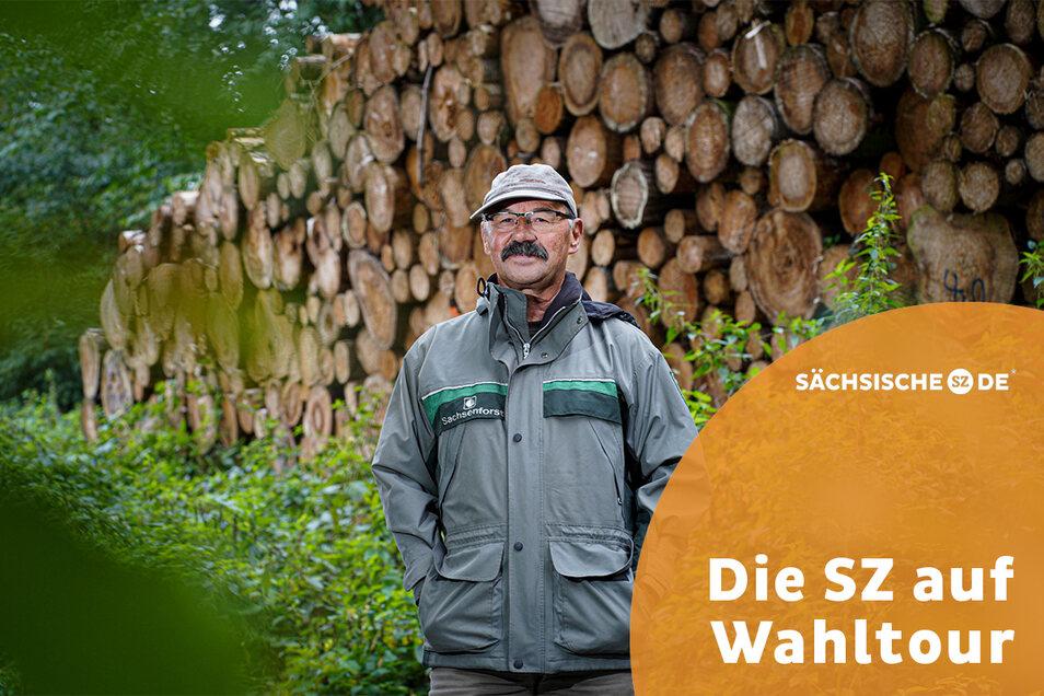 Seit 30 Jahren ist Rüdiger Reitz als Revierförster für über 1.300 Hektar Bautzener Stadtwald verantwortlich. Durch den fortschreitenden Klimawandel sieht er sein Lebenswerk gefährdet.