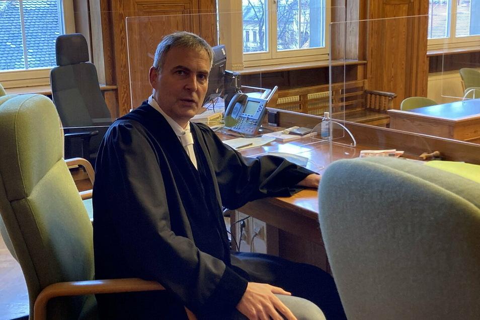 Holger Maaß, Richter am Amtsgericht Zittau, beklagt eine Überlastung der Justiz.