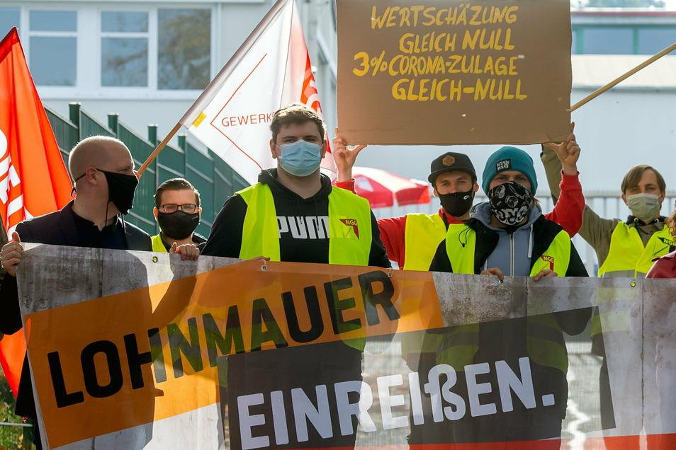 Im Moment ist der Streik bei Lausitzer Früchte ausgesetzt. Die Linke fordert nun, die Verhandlungen wieder aufzunehmen.