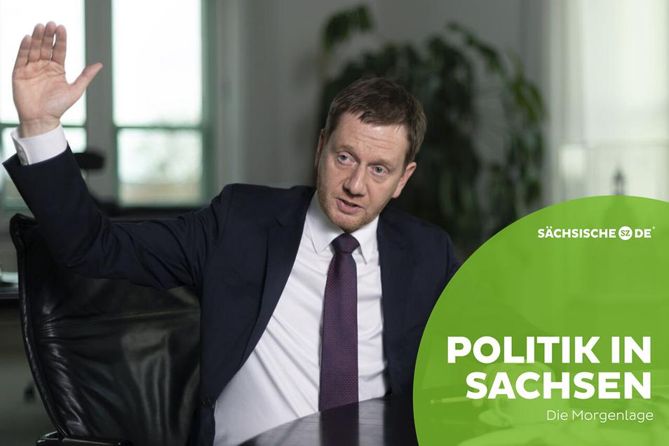 Michael Kretschmer (CDU), Ministerpräsident von Sachsen, will die Corona-Regeln weiter verschärfen.