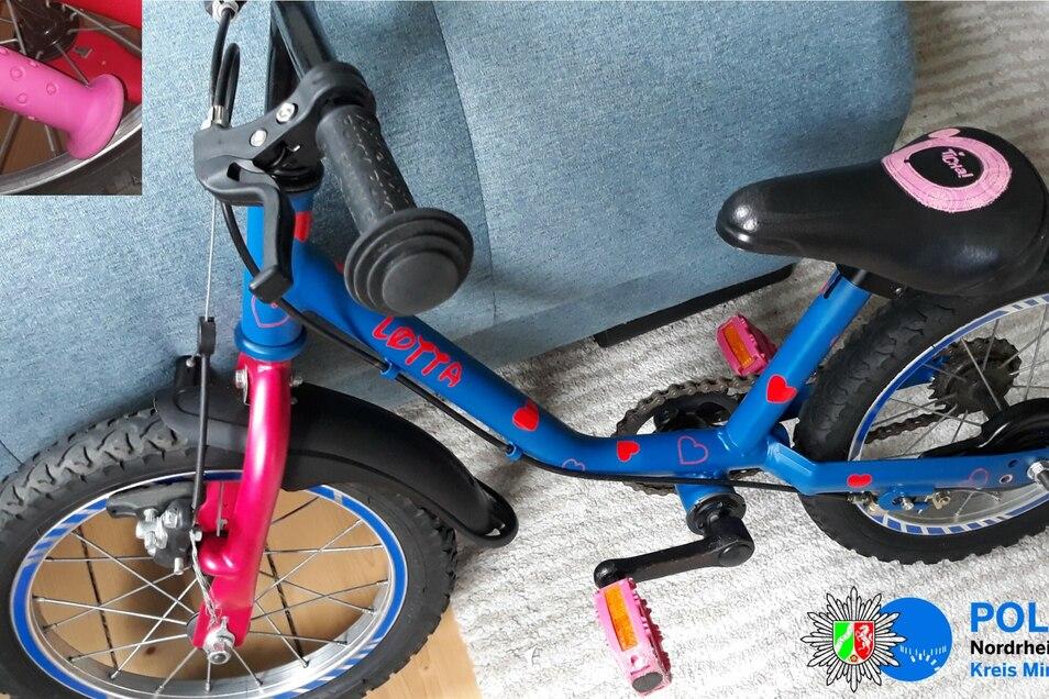 An diesem Rad hatte ein kleines Mädchen nur sehr kurz Freude.