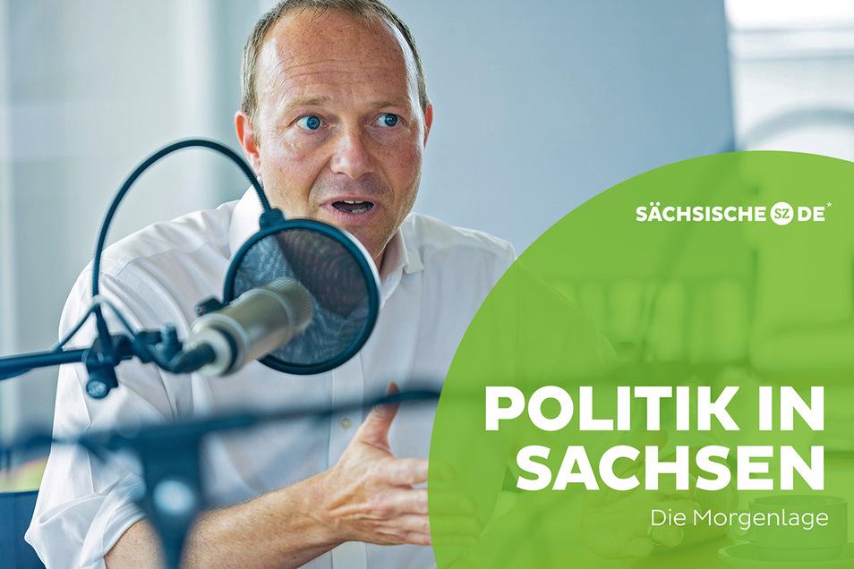 Sachsens Umweltminister Wolfram Günther bezweifelt die Sinnhaftigkeit des geplanten A4-Ausbaus.