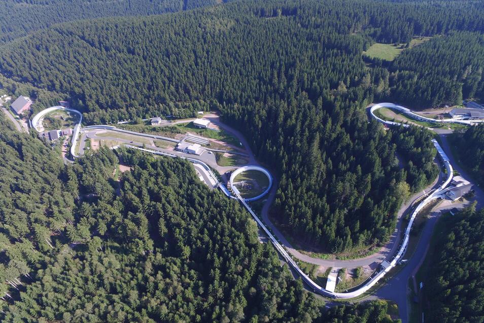 Der Eiskanal von Altenberg gilt als anspruchsvollster der Welt. Noch...