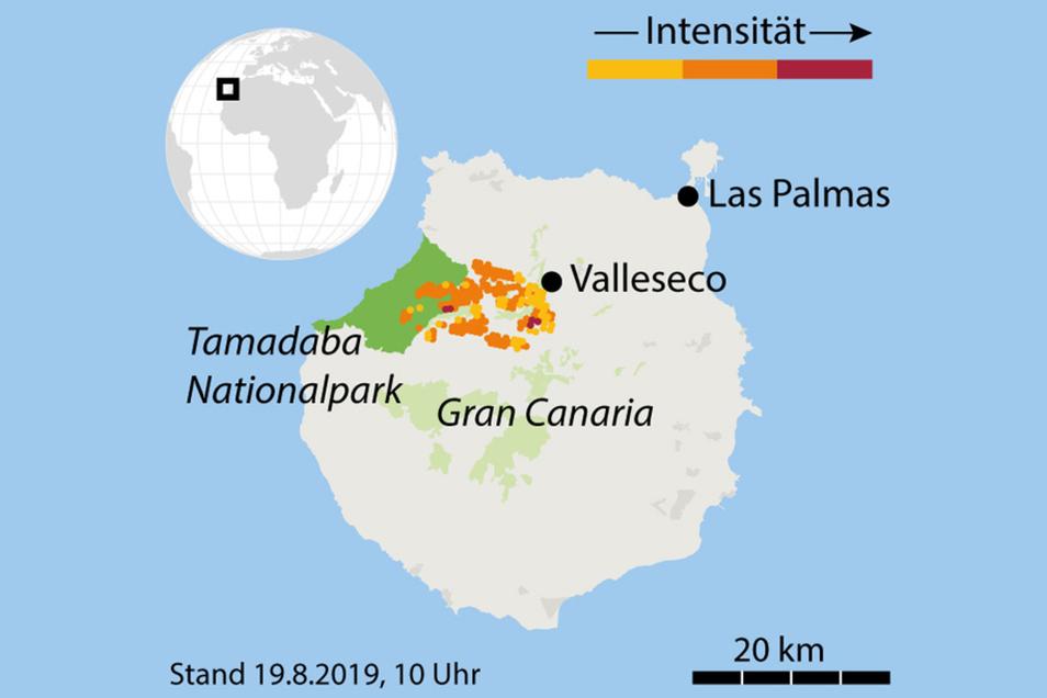Satellitendaten: Feuer in den vergangenen 48 Stunden