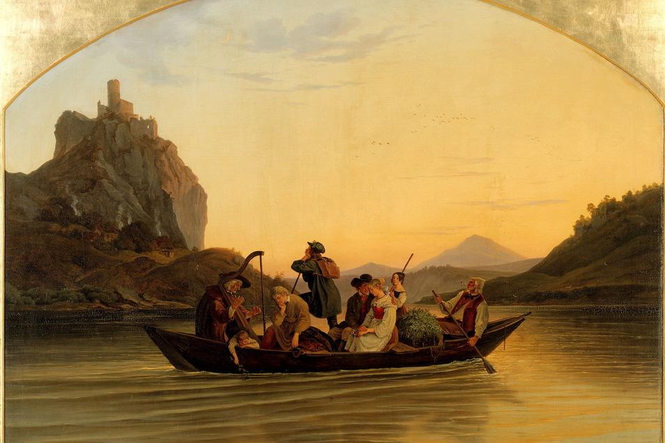 """""""Die Überfahrt am Schreckenstein"""" von Ludwig Richter ist eins der Lieblingsbilder des Publikums."""