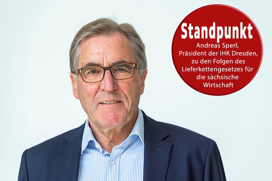 Andreas Sperl, Präsident der IHK Dresden und Geschäftsführer der Elbe Flugzeugwerke Dresden.
