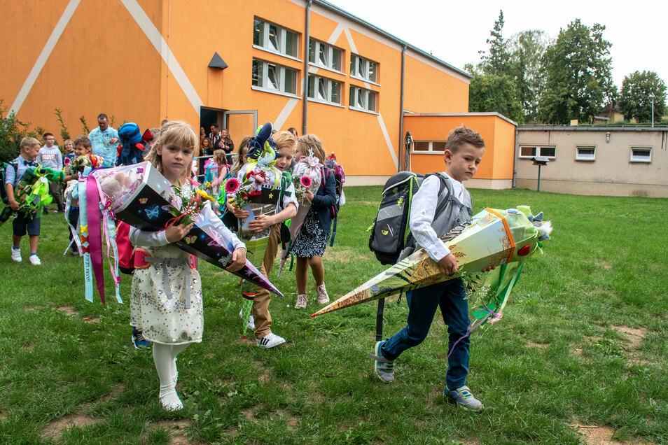 Schulanfang Grundschule Mochau.