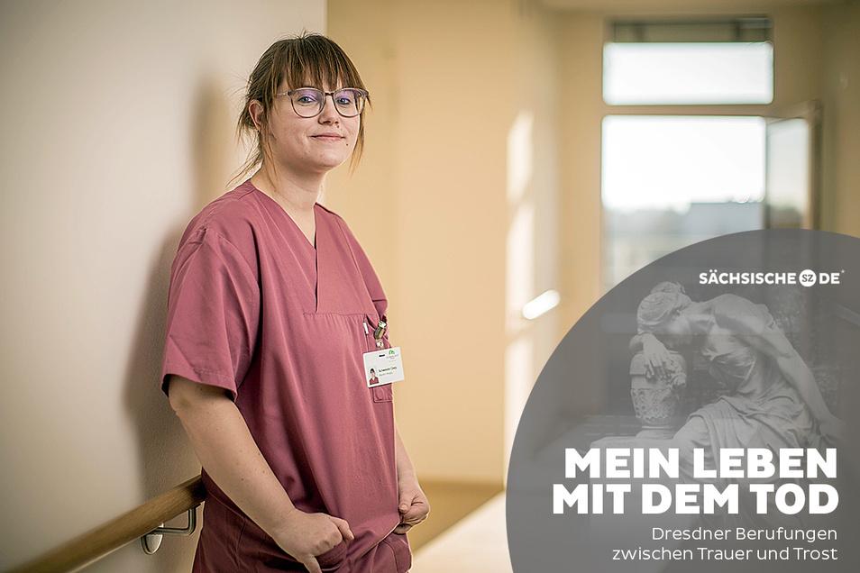 """""""Was ich immer machen wollte"""": Cindy Handrick ist seit Herbst Pflegerin im Dresdner Marien-Hospiz."""