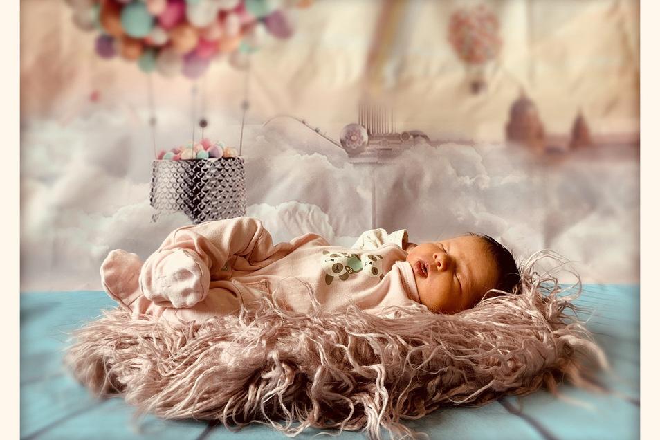 Anna, geboren am 7. April, Geburtsort: Pirna, Größe: 46 Zentimeter, Gewicht: 2.880 Gramm, Eltern: Susan Carius und Oliver Knetschke, Wohnort: Pirna