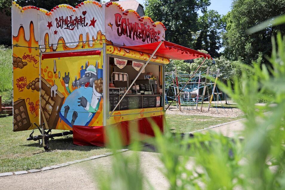 Am Wochenende ist Rene Rumberger mit seiner Schmalzbäckerei im Tierpark.
