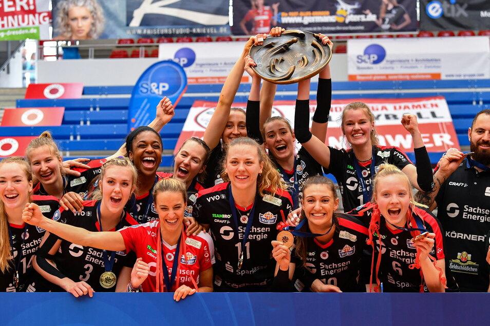 Holt sich der Meister Dresdner SC endlich mal den Supercup? Am 2. Oktober in Schwerin steigt die nächste Chance.