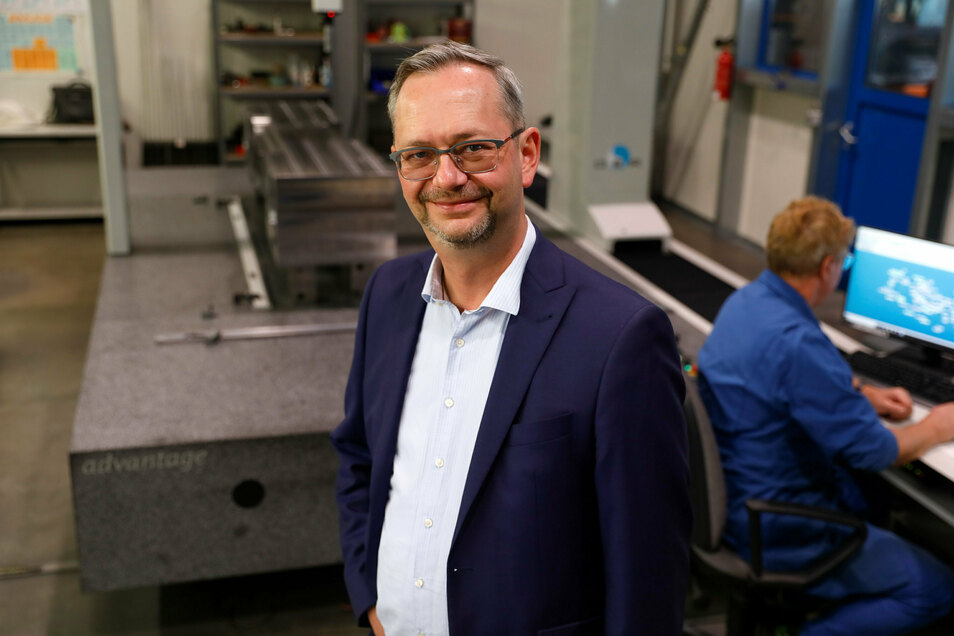 Der Geschäftsführer der Freitaler Metall- und Anlagenbau (FMA) GmbH, Ralf Stirl.