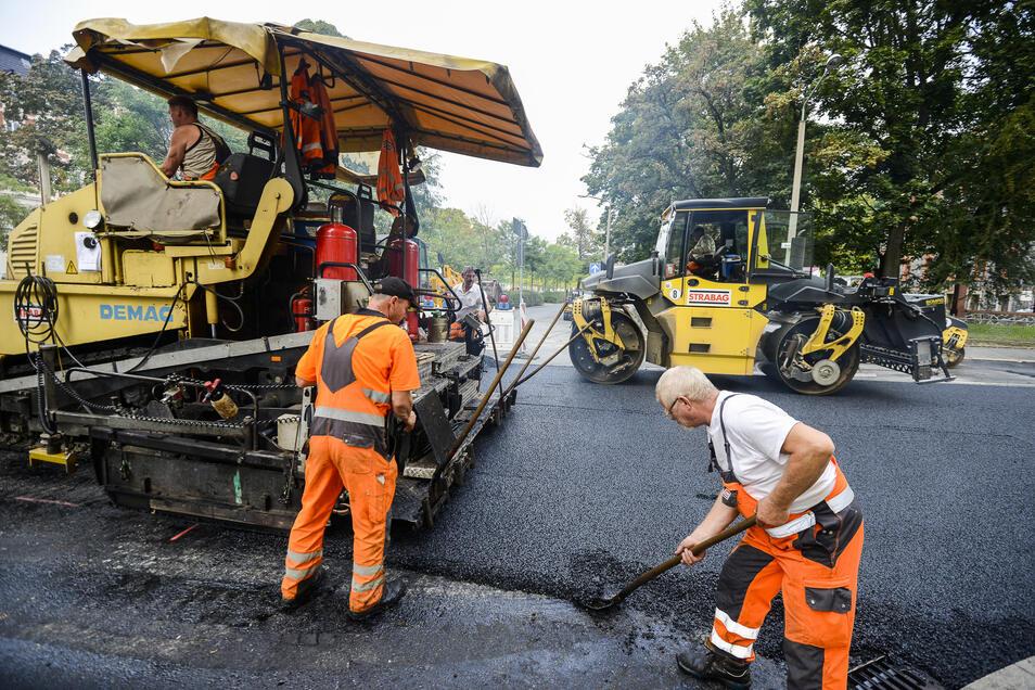 Auch in diesem Jahr werden die Straßenbauer in Görlitz zu tun haben.