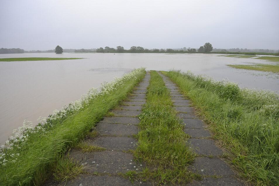Neißewiesen in Hagenwerder standen unter Wasser.