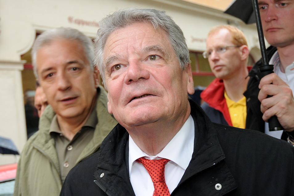 Nicht selten gab es wichtigen Besuch wie den Bundespräsidenten Joachim Gauck und Sachsen-MP Stanislaw Tillich.