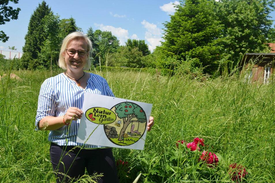 Yvonne Beck ist Lehrerin an der Reichenbacher Grundschule und hat das Konzept für den Naturlerngarten erarbeitet. Unterstützung gab es dabei von der Stadtinformation und dem Landschaftspflegeverband.