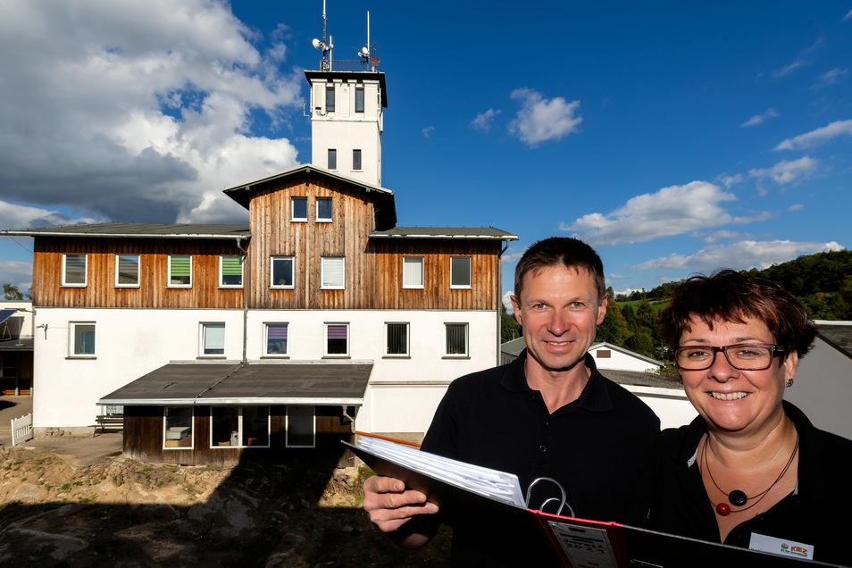 Katja und Sven Hartmann: Als Geschäftsführerin und technischer Leiter kümmern sie sich um das Kiez in Sebnitz.