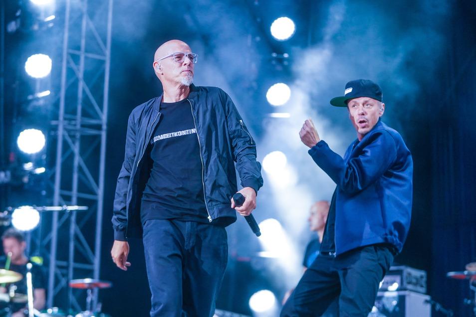 Im Sommer noch live bei den Dresdner Filmnächten, jetzt im Kino: Thomas D. (l.) und Michi Beck von den Fantastischen Vier.