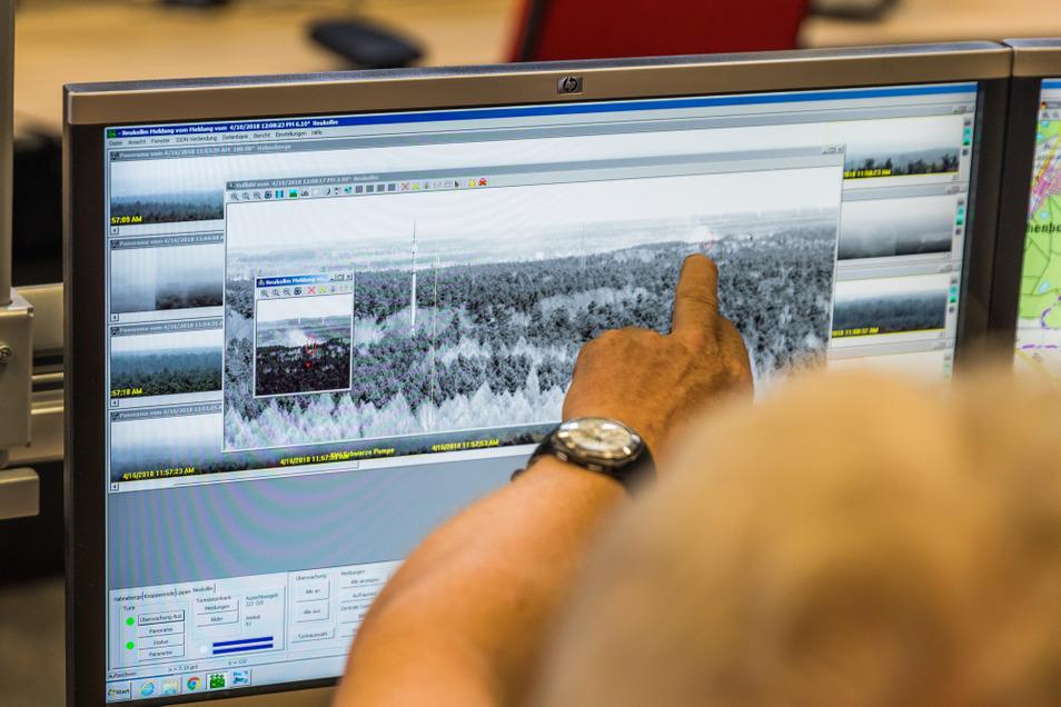 Das Waldbrand-Früherkennungssystem befindet sich in der Integrierten Regionalleitstelle in Hoyerswerda.