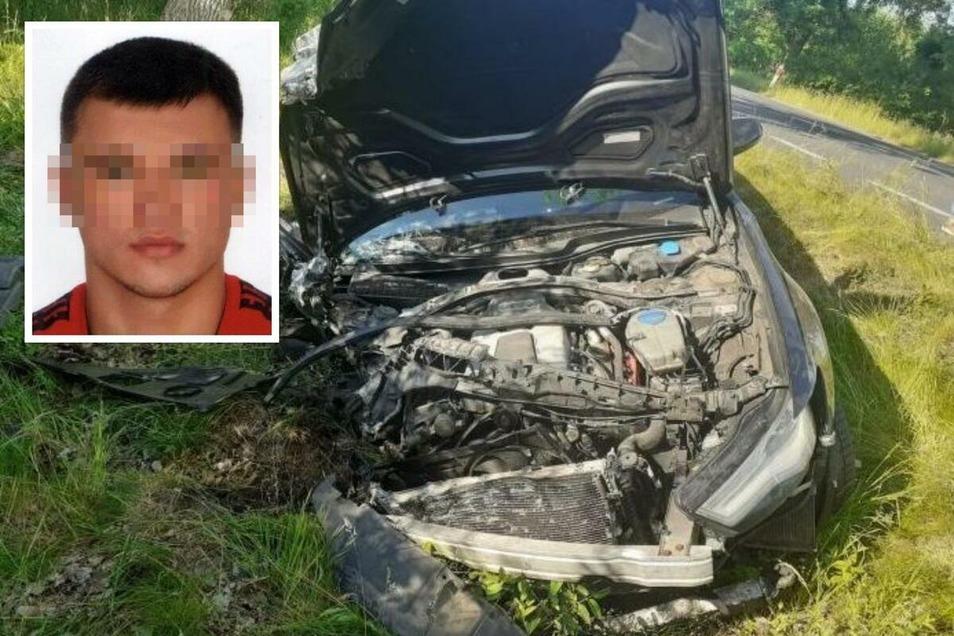 Eins der Unfallwracks mit dem angeblichen Todesfahrer Dominik H.