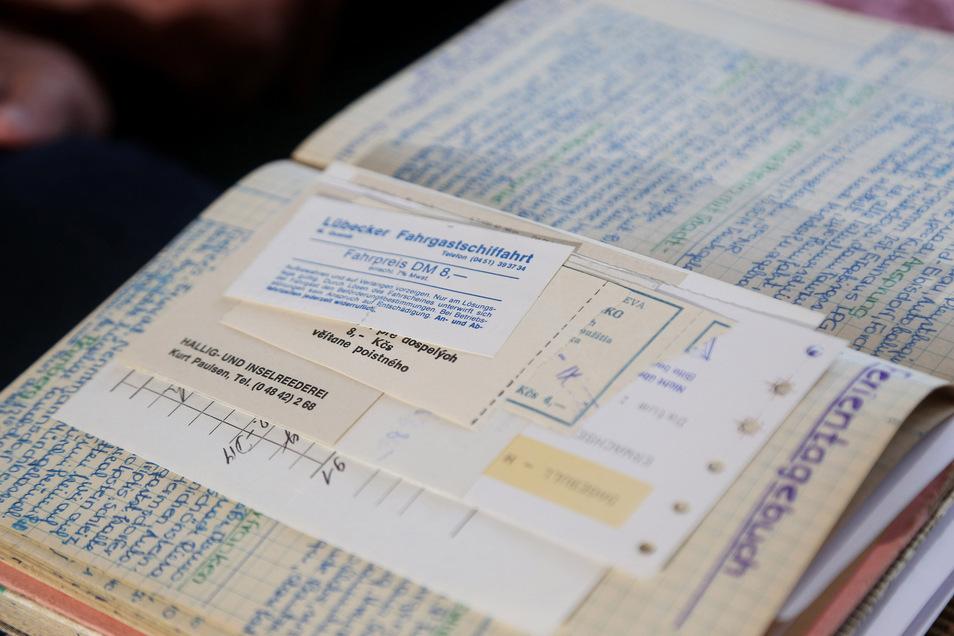 Seine beruflichen Reisen hat Gerhard Proske penibel im Tagebuch notiert: Zu DDR-Zeiten war er allein 20-mal in Erfurt, aber auch in der Hohen Tatra oder den Weißen Karparten. Nach 1990 änderten sich die Reiseziele.