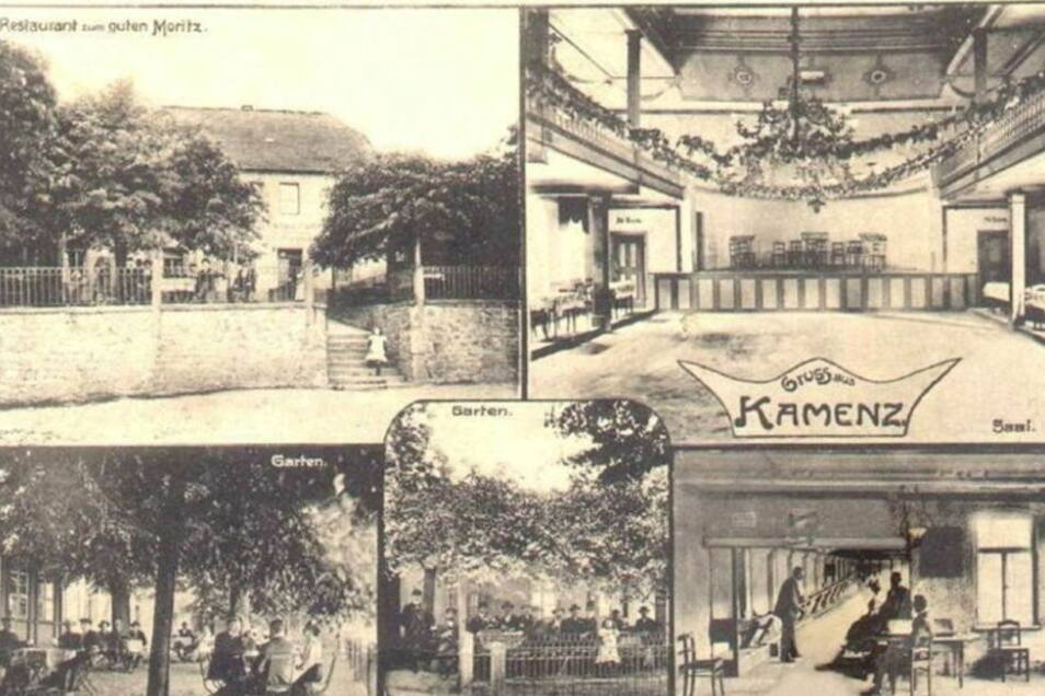 Ein alte Postkarte zeugt vom einstigen Glanz der Gaststätte.