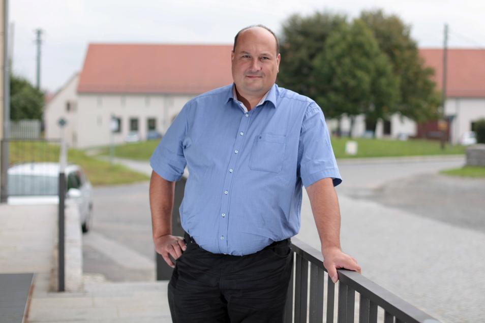 Markus Kreuz (CDU) ist der alte und neue Bürgermeister von Panschwitz-Kuckau.