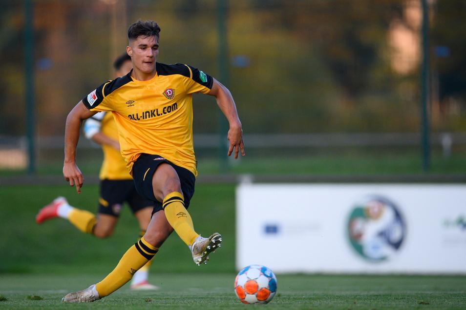 Jonas Hoffmann erzielte als Mittelstürmer ein Tor fürs Future Team gegen Freital.