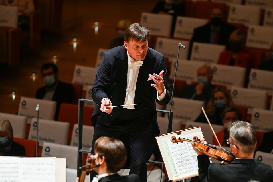Christian Thielemann unlängst beim Konzert in Dresden.
