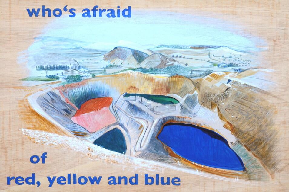 """Arbeit von Johanna Kandl """"Who is afraid of red, yellow and blue?"""" in der Galerie für Zeitgenössische Kunst Leipzig Foto: GfZK"""