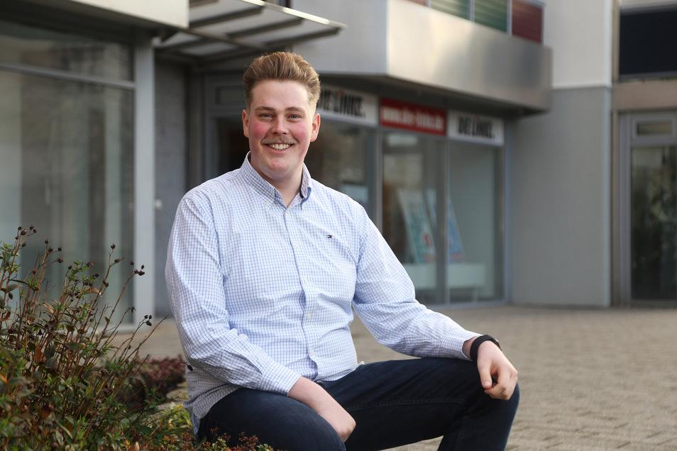 Ein junges Gesicht für die Linkspartei: Der 25-jährige Erik Christopher Richter ist seit wenigen Tagen Vorsitzender des Kreisverbandes der Partei Die Linke. In den kommenden zwei Jahren will er die Partei wieder mehr in die Öffentlichkeit bringen.
