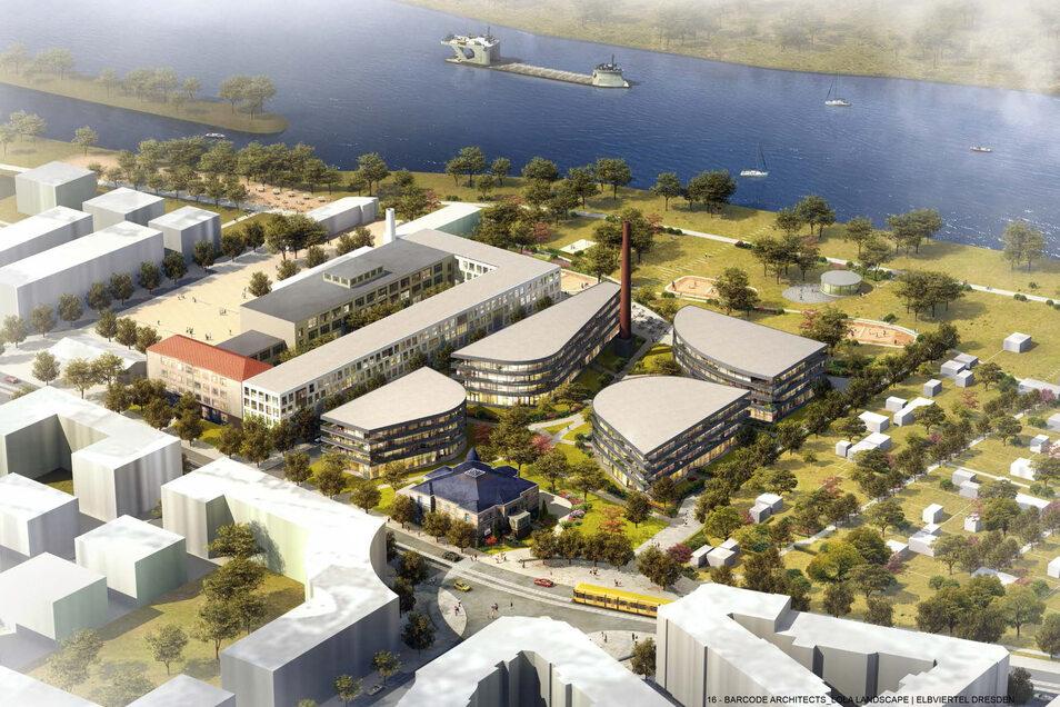 So sieht das Ergebnis des städtebaulichen Wettbewerbs für Marina Garden aus. Mit der genauen Gestaltung beschäftigt sich nun der neue Eigentümer der Immobilie.