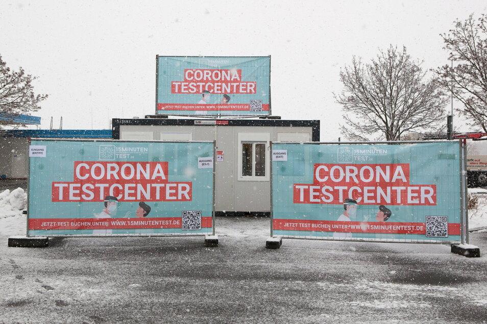 So sieht es aus, das Corona-Schnelltest-Zentrum in Kodersdorf.
