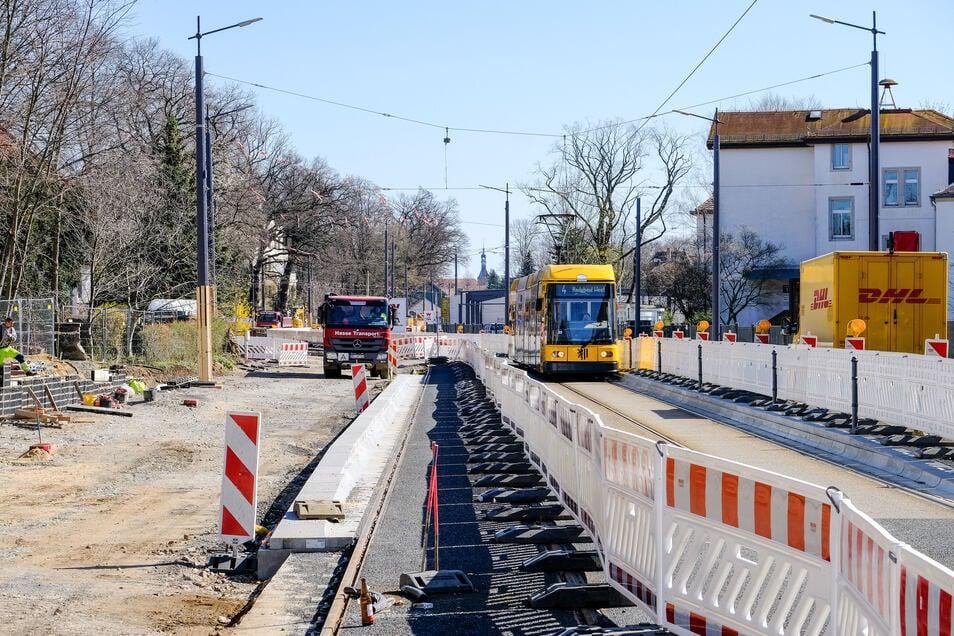 Die Meißner Straße ist nur eine von mehreren Baustellen, die es aktuell im Radebeuler Stadtgebiet gibt.