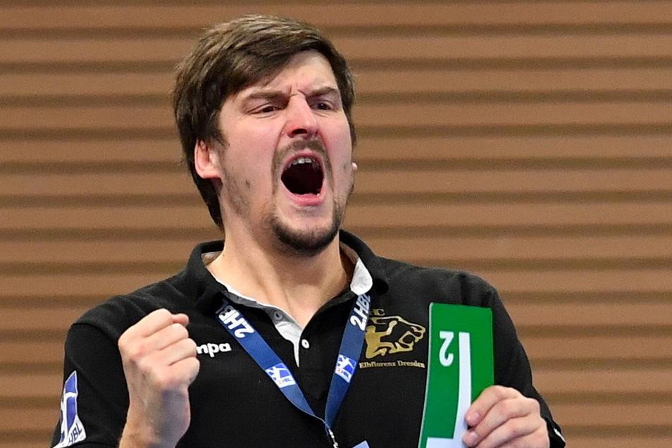 Trainer Rico Göde ist der einzige gebürtige Dresdner im Teamgefüge des HC Elbflorenz. Sein Vertrag läuft am Saisonende aus.