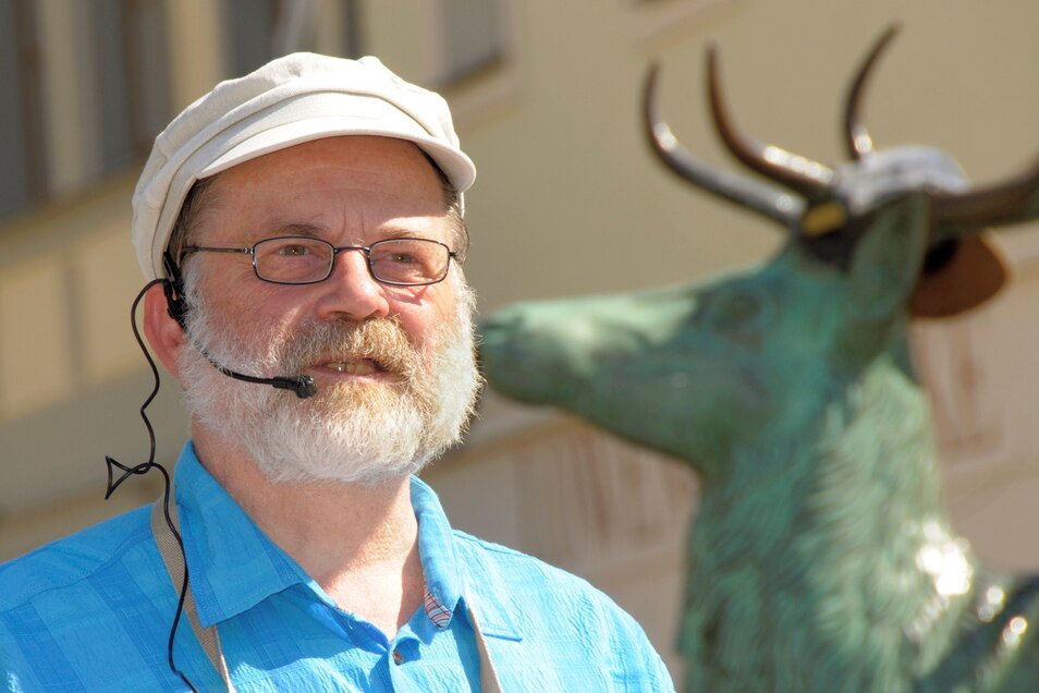 So kennen die Großenhain und ihre Besucher den Stadtgeschichtenerzähler Klaus Hammerlik.