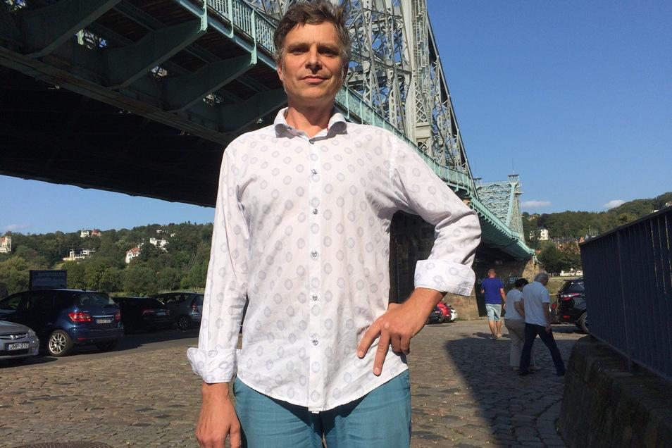 Landtagsabgeordneter Thomas Löser von den Grünen will sich dafür stark machen, dass der Freistaat Fördermittel für das Blaue Wunder bereitstellt.