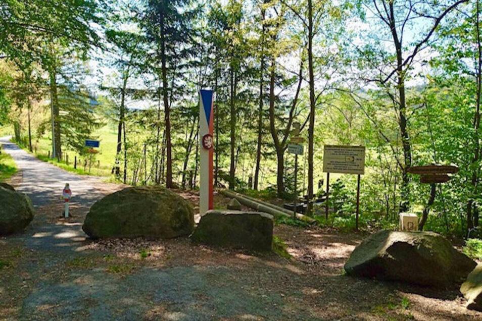 Der Grenzübergang Steinigtwolmsdorf/Severni im Schluckenauer Zipfel.