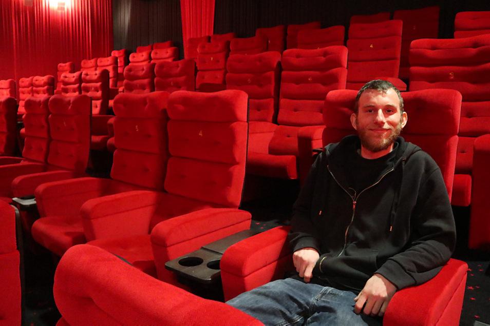 Toni Züchner leitet seit 2017 das CineMotion-Kino in Hoyerswerda. Wie viele seiner Kollegen in der Kino-Branche wartet er auf klare, konkrete und verbindliche Signale der Politik. Er hofft auf eine baldige Wiedereröffnung des Kinos.