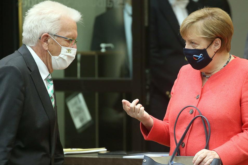 """Winfried Kretschmann (Bündnis90/Grüne) appellierte an die Kanzlerin: """"Machen Sie die deutsche Präsidentschaft auch zu einer Klimapräsidentschaft."""""""